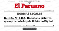 Ley de Gobierno Digital en Perú
