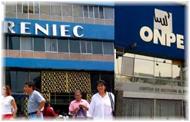 Lista de Candidatos para Jefes de ONPE y RENIEC